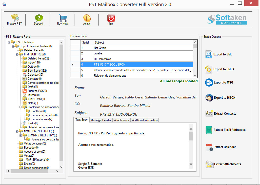 Complete PST to MBOX Converter