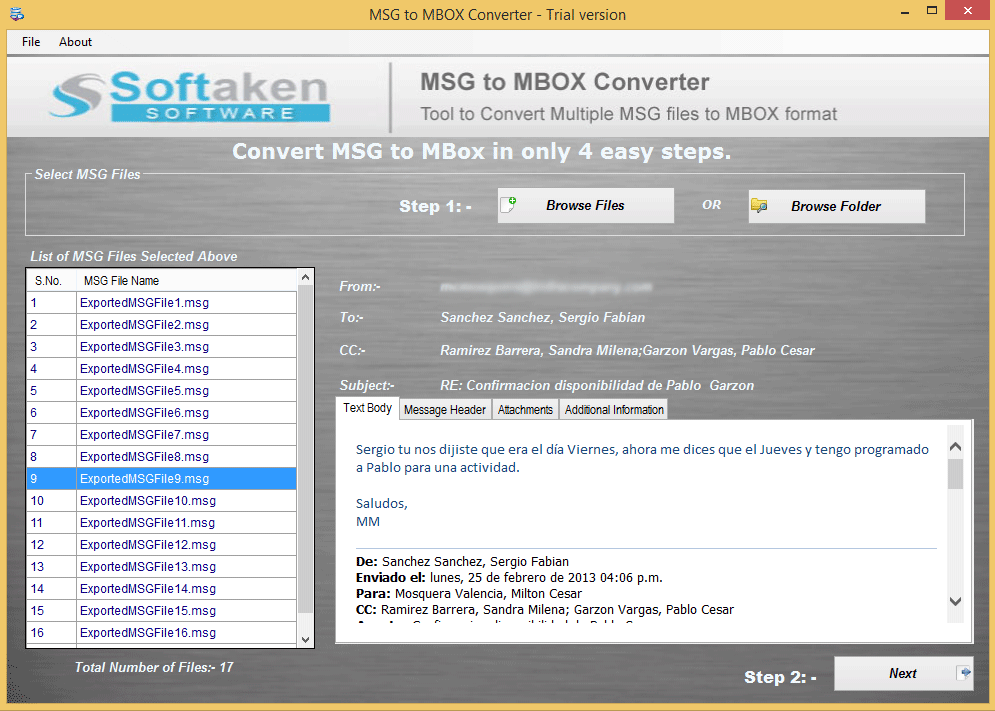 MSG to MBOX Converter – Run MSG Converter for MBOX File