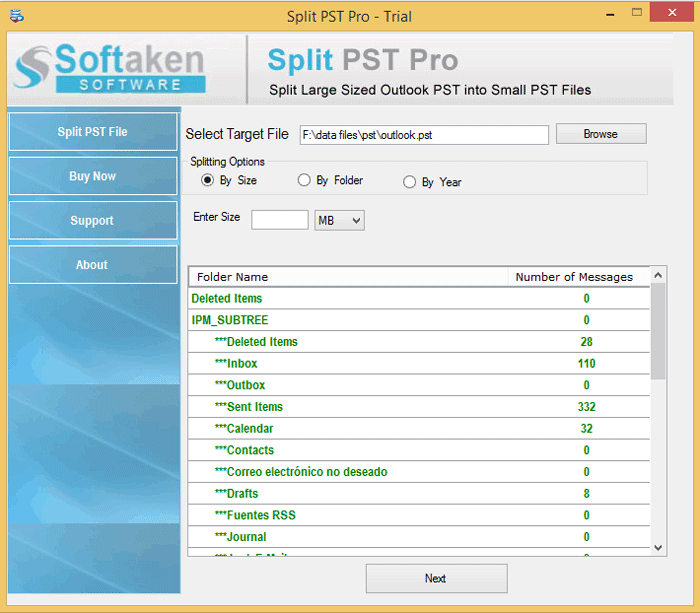 MS Outlook PST Split Tool to Split Large Sized Outlook PST